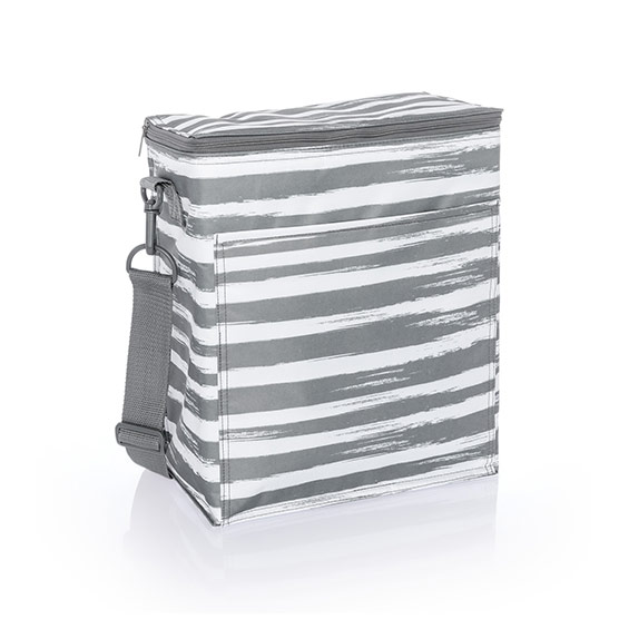Picnic Thermal Tote - Grey Brush Strokes