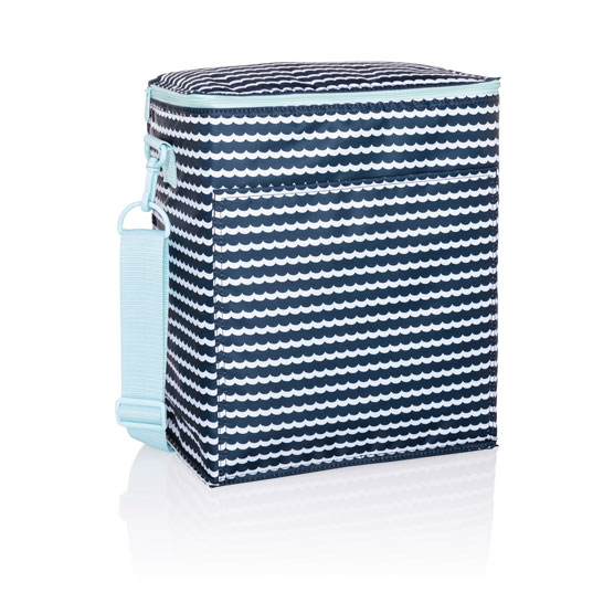 Picnic Thermal Tote - Scallop Stripe