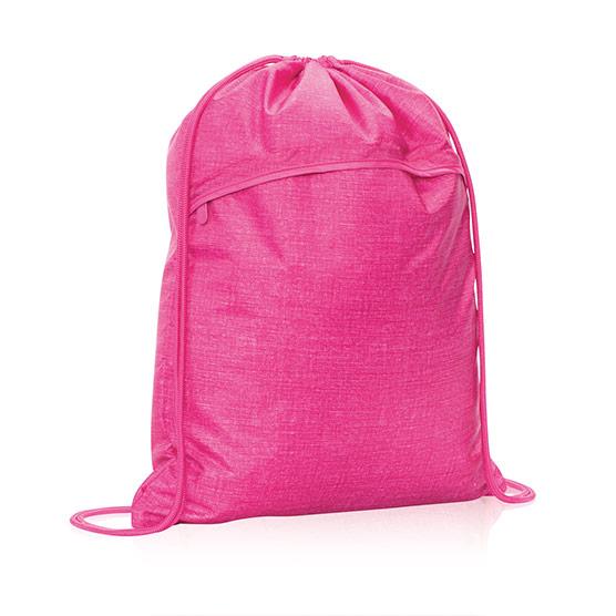 Cinch Sac - Pink Crosshatch