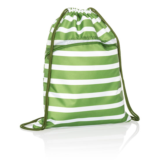 Cinch Sac - Green Cabana Stripe