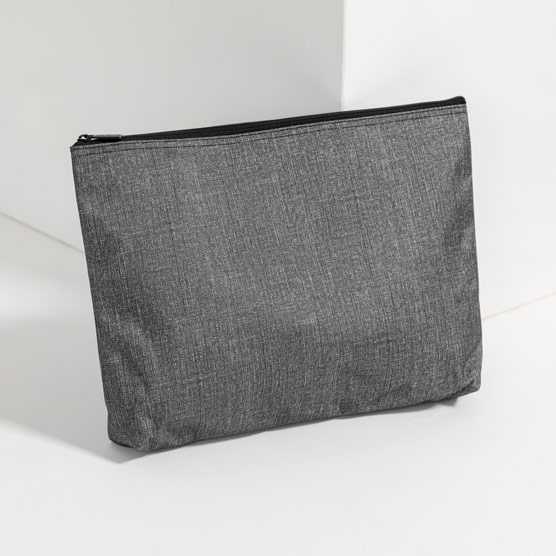 Zipper Pouch - Charcoal Crosshatch