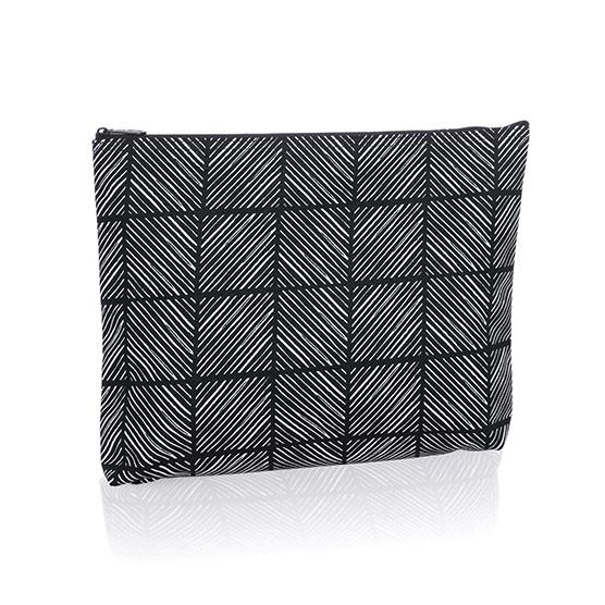 Zipper Pouch - Chevron Squares