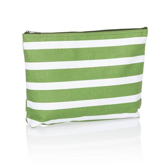 Zipper Pouch - Green Cabana Stripe