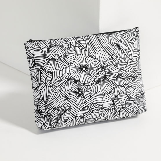 Zipper Pouch - Garden Sketch