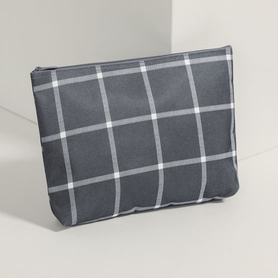 Zipper Pouch - Windowpane Plaid