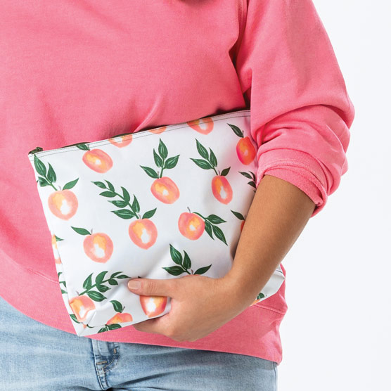 Zipper Pouch - Peach Paradise