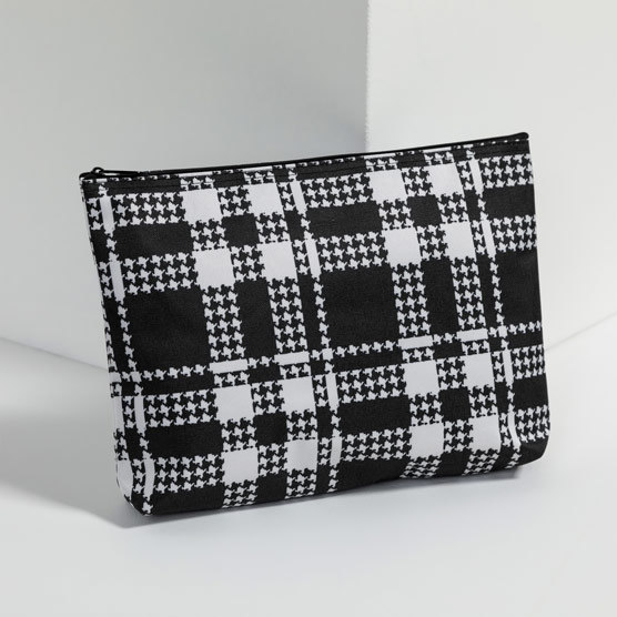 Zipper Pouch - Houndstooth Plaid