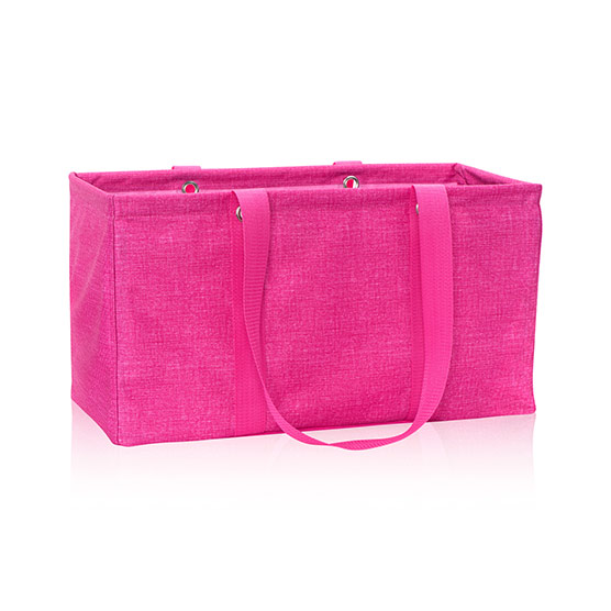 Large Utility Tote - Pink Crosshatch