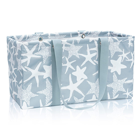 Large Utility Tote - Starfish Splash