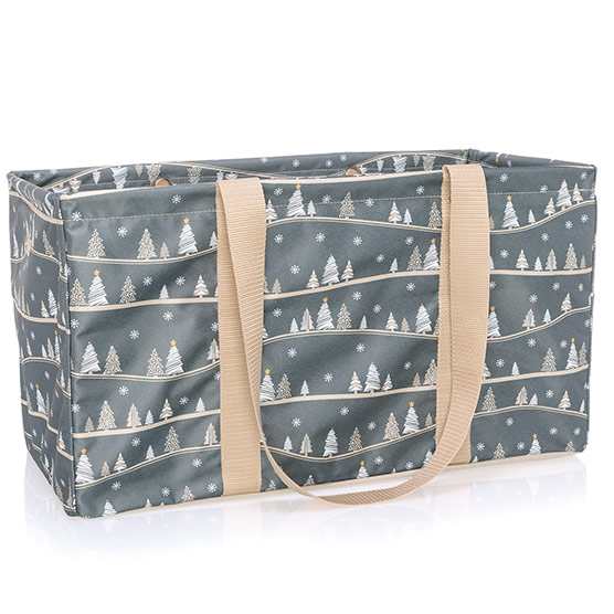 Large Utility Tote - Snowy Slopes