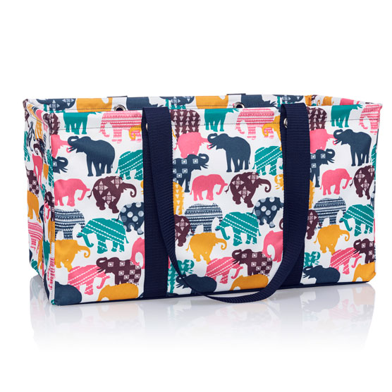Large Utility Tote - Elephant Parade Multi