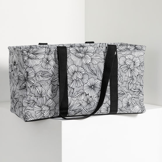 Large Utility Tote - Garden Sketch