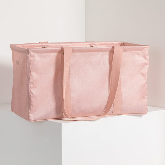 Large Utility Tote - Rose Blush Metallic