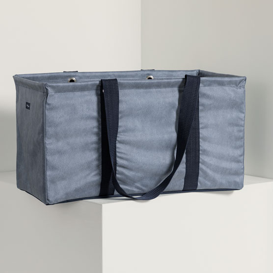 Large Utility Tote - Denim Distressed