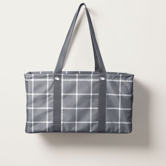 Large Utility Tote - Windowpane Plaid