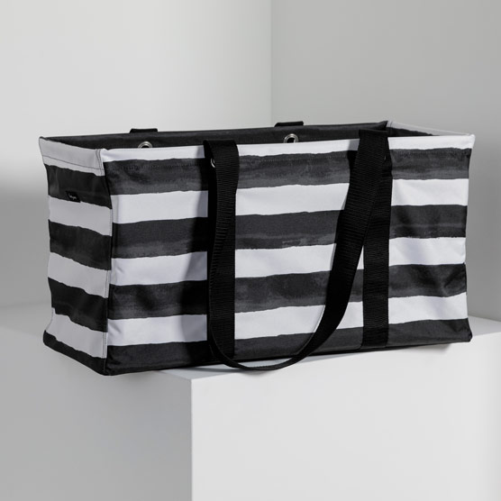 Large Utility Tote - Watercolor Stripe