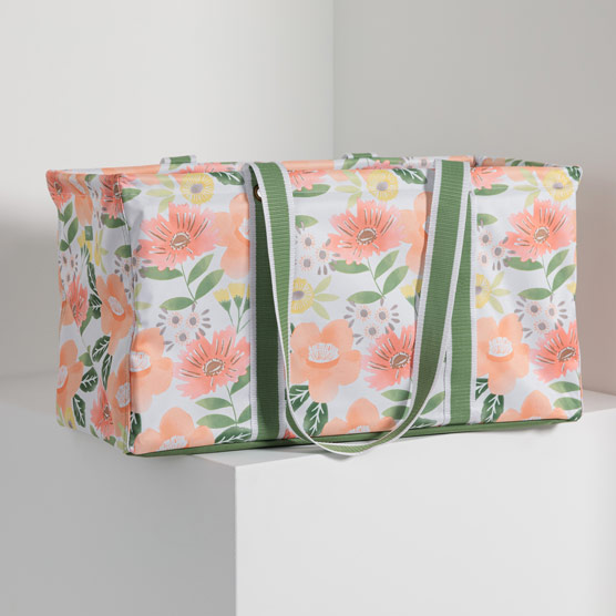 Large Utility Tote - Morning Floral