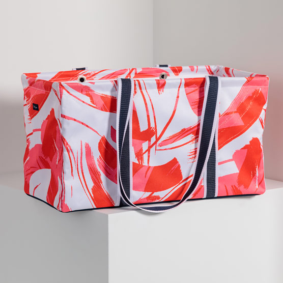 Large Utility Tote - Dancing Coral
