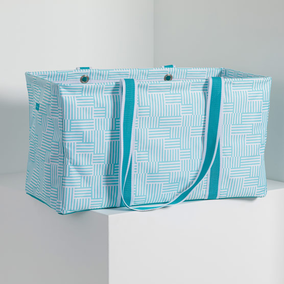 Large Utility Tote - Patchwork Stripe
