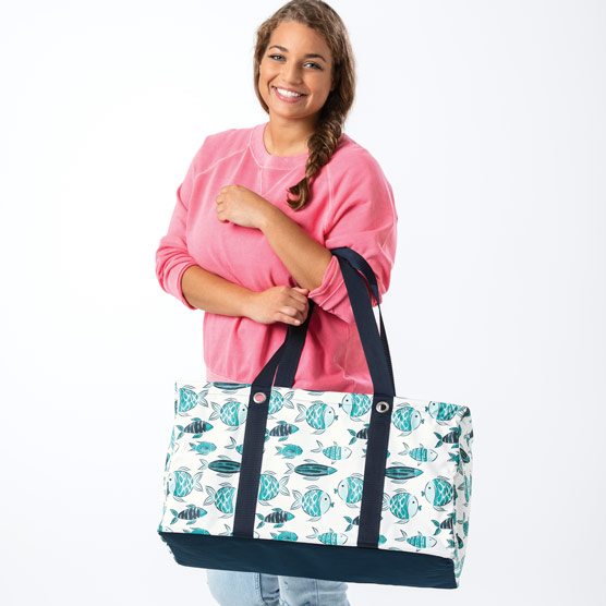 Large Utility Tote - Finny Friends