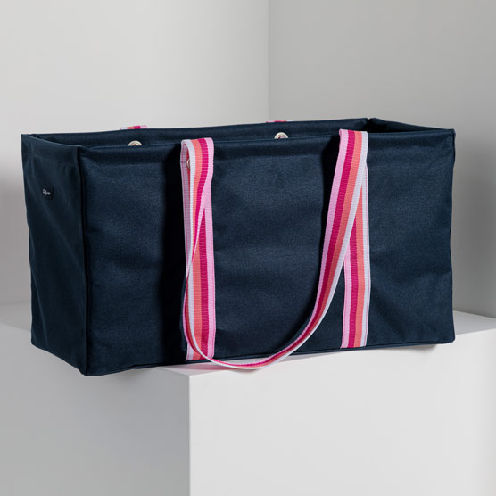 Large Utility Tote - Navy Pop