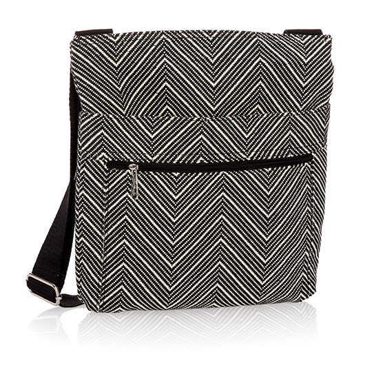 Organizing Shoulder Bag - Herringbone Weave