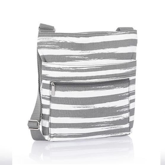 Organizing Shoulder Bag - Grey Brush Strokes