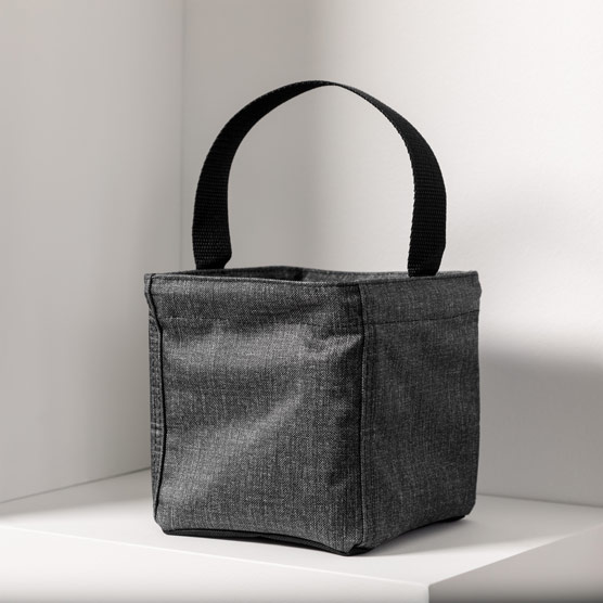 Littles Carry-All Caddy - Charcoal Crosshatch