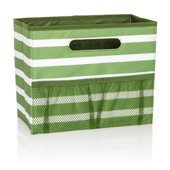 Fold N' File - Green Cabana Stripe