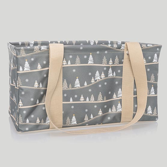 Medium Utility Tote - Snowy Slopes