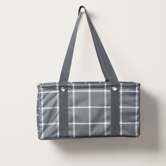 Medium Utility Tote - Windowpane Plaid