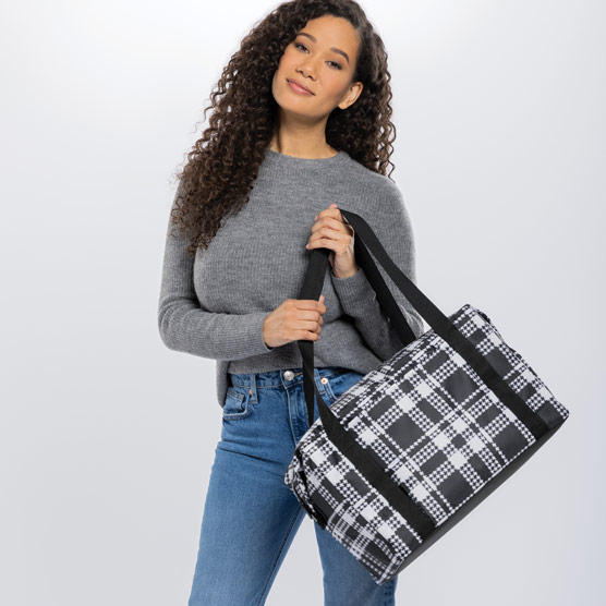 Fresh Market Thermal - Houndstooth Plaid