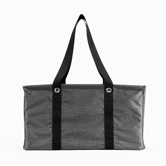 Deluxe Utility Tote - Charcoal Crosshatch