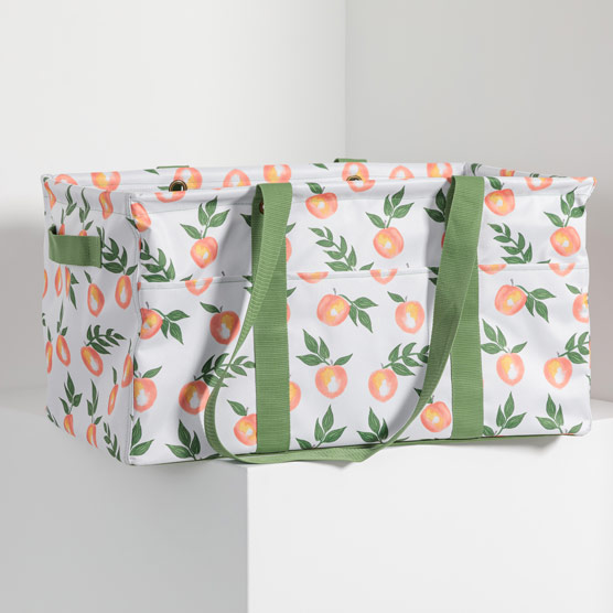 Deluxe Utility Tote - Peach Paradise