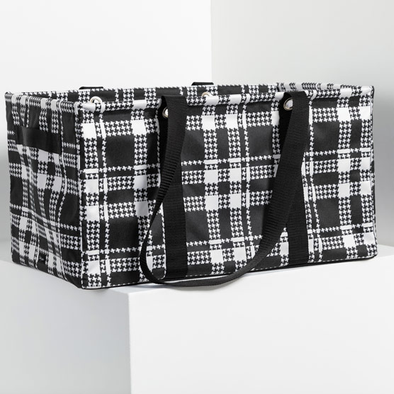 Deluxe Utility Tote - Houndstooth Plaid