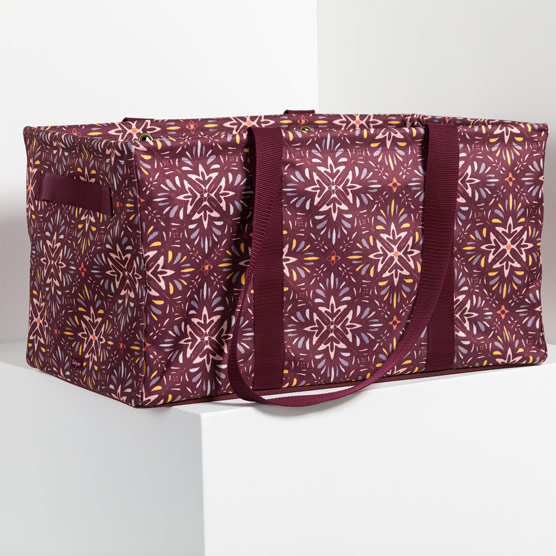 Deluxe Utility Tote - Fall Hues Geo