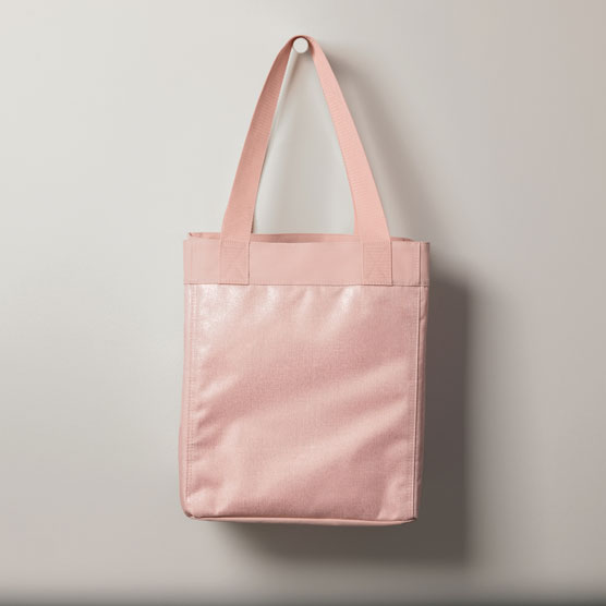 Essential Storage Tote - Rose Blush Metallic