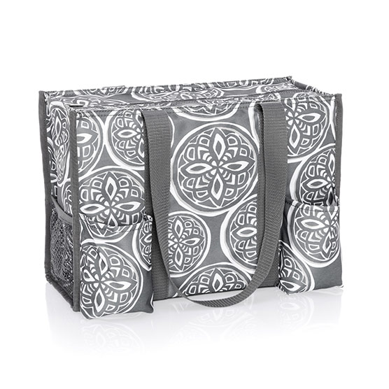 Zip-Top Organizing Utility Tote - Woodblock Whimsy