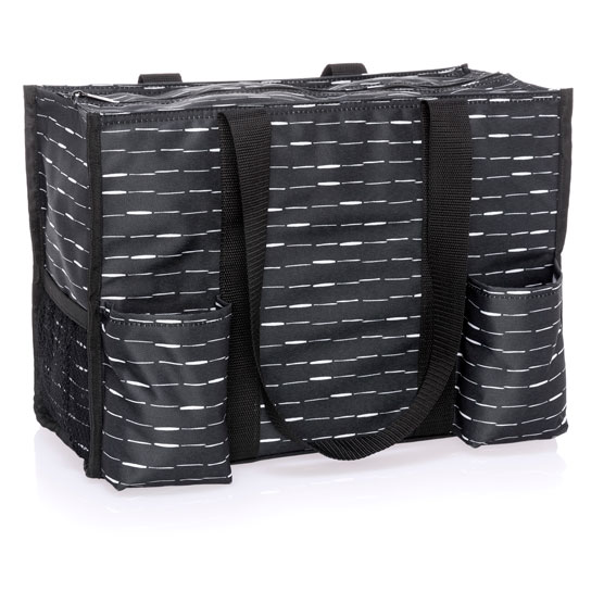 Zip-Top Organizing Utility Tote - Starlit Stripe