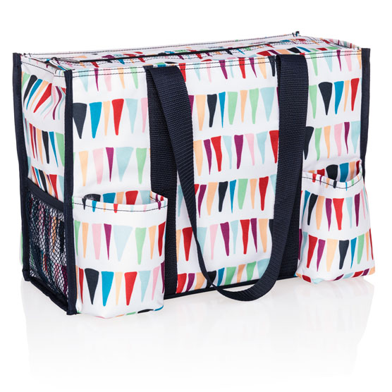 Zip-Top Organizing Utility Tote - Fun Flags
