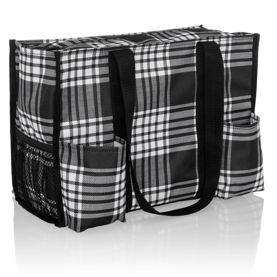 Zip-Top Organizing Utility Tote - Perfectly Plaid