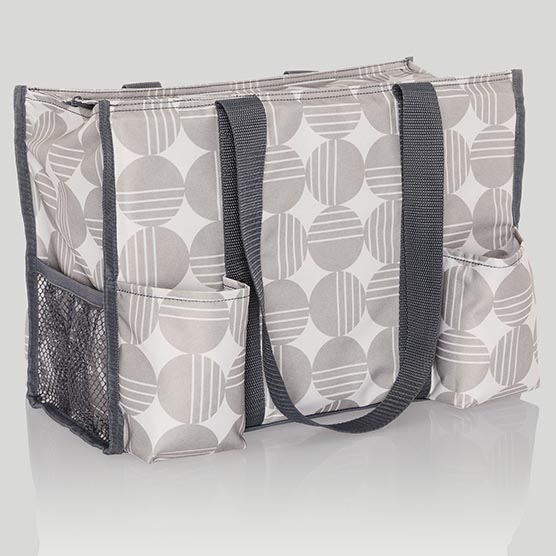 Zip-Top Organizing Utility Tote - Deco Dots