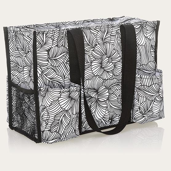 Zip-Top Organizing Utility Tote - Garden Sketch