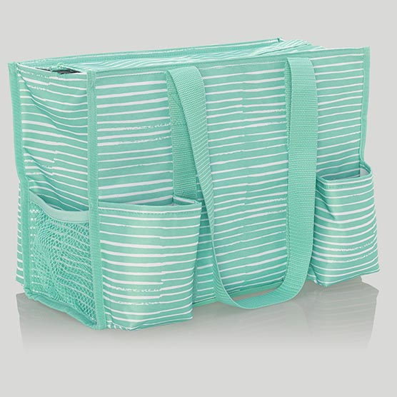 Zip-Top Organizing Utility Tote - Miami Stripe