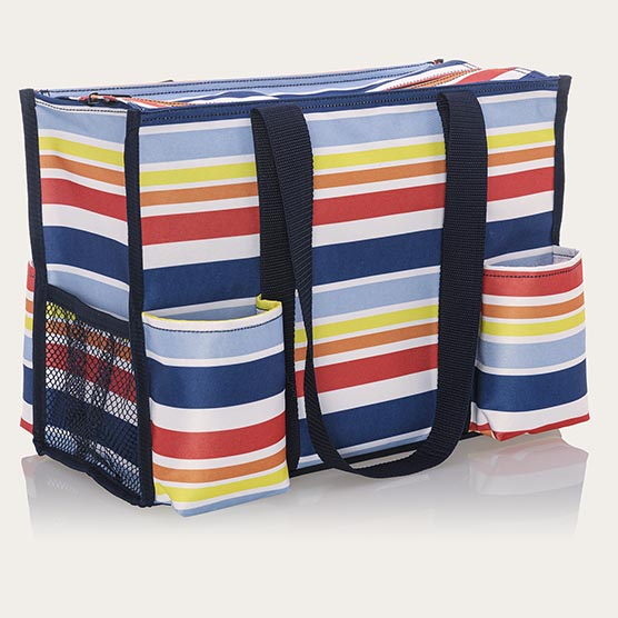 Zip-Top Organizing Utility Tote - Vista Stripe
