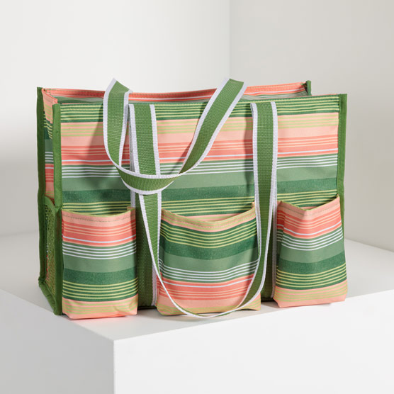 Zip-Top Organizing Utility Tote - Sunlight Stripe