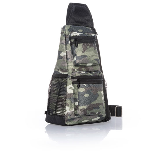 Sling-Back Bag - Camo Crosshatch