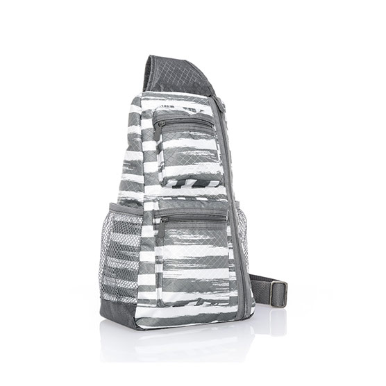 Sling-Back Bag - Grey Brush Strokes