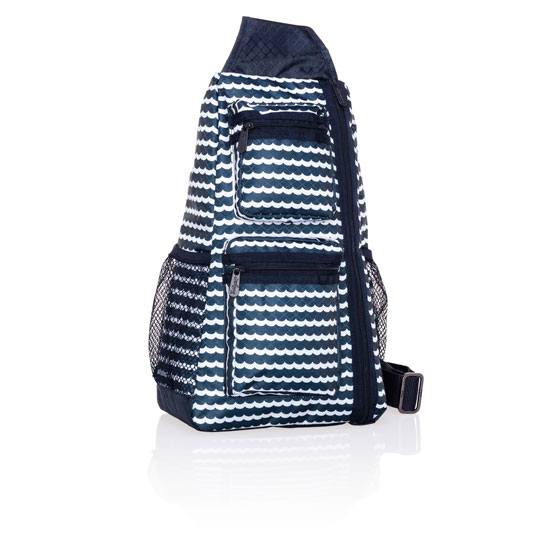 Sling-Back Bag - Scallop Stripe