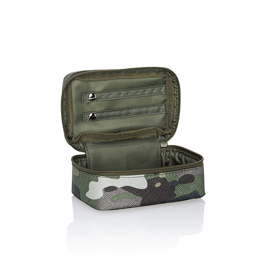 Baubles & Bracelets Case - Camo Crosshatch